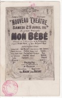 Carte Photo Militaire  CAMP De CELLE-CELLELAGER Allemagne SPECTACLE-THEATRE-Représentation Affiche Publicité 29-04-1916 - Teatro