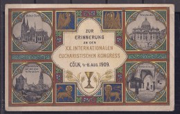 Germany1909:Postcard For EUCHARISTIC CONGRESS In KÖLN - Christianity