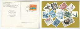 1969 SWEDEN  Stamps POSTMUSEUM POSTCARD (depicting Swedish Stamps Dog  Ship  Bird Etc) Cover - Sweden
