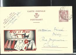 Publibel Obl. N° 776 ( Ric Et Rac Product: Cravates Chemises; Deux Chiens; Two Dog) Obl: Arlon 26/11/1948 - Stamped Stationery