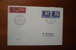 8647 SWITZERLAND - COVER - EXPRES - 16-9-1963 - AUSGABETAG - EUROPA CEPT - Storia Postale