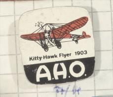 AHO Kitty Hawk Flyer 1903 First Flight Pin (Netherlands Holand Dutch) AIRWAYS Air Plane Aircraft - Airplanes