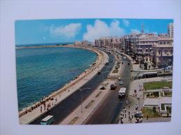 Postcard/Postal Egypt Alexandria The Corniche - Alexandrië
