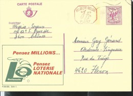 Publibel Obl. N° 2604 + P. 017 ( Loterie Nationale) Obl: - Publibels