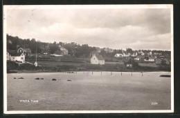 CPA Vivsta, Timra, Blick Vom Wasser Auf Häuser - Zweden
