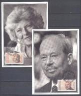 Liechtenstein 2x FDC Carte Postale Premier Jour YT N°929/930 Prince Josef II Et Princesse Gina Du Liechtenstein - FDC