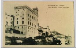 REPUBBLICA DI S.MARINO FIANCO DEL NUOVO PALAZZO GOVERNATIVO VIAGGIATA 1925 - San Marino