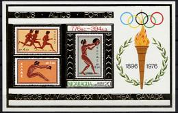 Nicaragua, Olympic Summer Games Montreal 1976, MNH Imp Gold Foil Sheet, Michel Block 90 - Estate 1976: Montreal