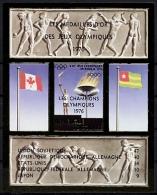 Togo, Olympic Summer Games Montreal 1976, MNH Imperf Overprinted Souvenir Sheet, Michel Block 107 - Juegos Olímpicos
