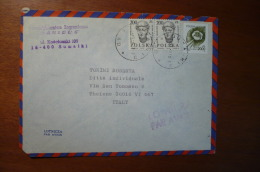 8840 POLAND - COVER TO ITALY - PAR AVION - 1991 - MIXED FRANKING - Storia Postale