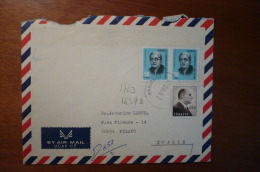 8842 TURKEY - COVER TO ITALY - BY AIR MAIL -  1969 - MIXED FRANKING - 1921-... Repubblica
