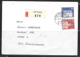 1972 Switzerland Registered Pratteln To Czechoslovakia - Brieven En Documenten
