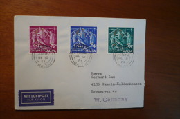 8930 MALTA - COVER TO WEST GERMANY - 1964 - PAR AVION - CHRISTMAS 1964 - 3 STAMPS - Malta