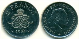 1981 Monaco 2 Francs Coin - 1960-2001 New Francs