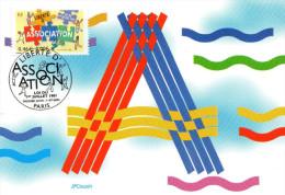 """Carte Maximum De 2001 """" 100 ANS DE LA LOI SUR LA LIBERTE D´ASSOCIATION """" N° YT 3404.. Parfait état. CM - Cartes-Maximum"""