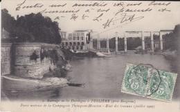 24----barrage De La Dordogne à TUILLIERE--force Motrice De La Compagnie Thompson-houston-etat Des Travaux---voir 2 Scans - France