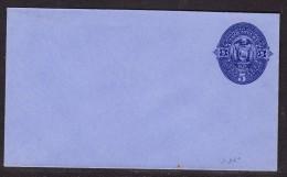Ecuador 1880 - 5c Blue On Blue Envelope Pre Paid - Unaddressed - Ecuador