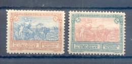 URUGUAY YVERT NRS. 214-5 SERIE COMPLETA COMPLETE SET AÑO 1918 NOUVELLE CONSTITUTION NUEVA CONSTITUCION - Uruguay