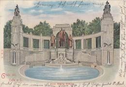 AK Gruss Aus Halle A. S.  Kaiser Wilhelm Denkmal Color Gelaufen 3.10.01 - Halle (Saale)