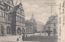 AK Paderborn Partie Am Rathausplatz Gel. 4.2.04 Bpst. Holzminden-Aachen - Paderborn