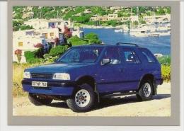 Pocket Calendar  Russia  1993 - Car - Opel Frontera - Bay - Boats - Tamaño Pequeño : 1991-00