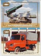 Pocket Calendar  Russia  1997 - 3 Pcs. - Car - Russian Rocket - Advertising - Calendari