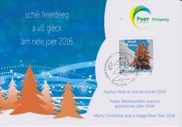 Luxembourg Christmas Card 2015 - Pinetree - Stamped Stationery