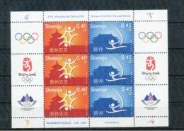 Olympische Spelen  2008 , Slovenie   -  Blok  Postfris - Summer 2008: Beijing