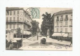 Cp , 03 , VICHY , La Rue De PARIS , Voyagée  , Attelage , Cheval - Vichy