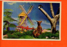 Le Corbeau Et Le Renard - Fable - Carte En 3D Carte à Relief (pli Milieu Et Coin Droit)  (non écrite , Non Oblitérée) - Contes, Fables & Légendes