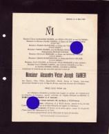 Herve & Chaineux ALEXANDRE RAHIER COLSON  1927  Imprimé à Herve - Overlijden