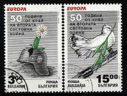 43-498 // BG -1995  EUROPA -EUROPE  50 YEARS From II WORLD WAR  Mi 4151/52 O - Bulgaria