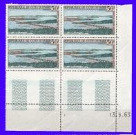 Côte D´Ivoire  Bloc De 4 Coin Daté   PA  N°26  1963 Neufs** - Côte D'Ivoire (1960-...)
