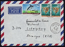 A5487 SENEGAL 1976, Cover From Saint Louis To Germany - Senegal (1960-...)