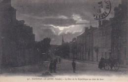 Fontenay Le Comte La Rue De La Republique Au Clair De Lune - Fontenay Le Comte