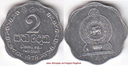 SRI LANKA 2 Cents 1978 KM#138 - Used - Sri Lanka