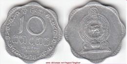 SRI LANKA 10 Cents 1978 KM#140a - Used - Sri Lanka