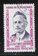 N° 1202  FRANCE  - OBLITERE  - GASTON MOUTARDIER  -  1959 - Usados