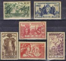 K 823 KOLONIE FRANKRIJK TOGO SCHARNIER YVERT NRS 165/170 ZIE SCAN - Collections (without Album)