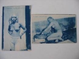 CPA 2 Cartes Postales Maroc  Comment Les Femmes Portntent La Culotte Et Femme Arabe En Priere - Casablanca