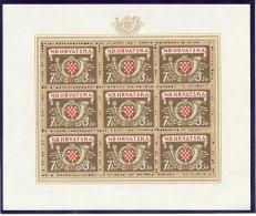 CROATIA 1944 Postal And Railway Employees Set Of Four Sheetlets MNH / **.  Michel 150-53 - Croatia