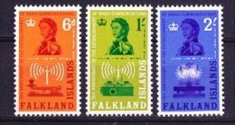 Falkland Islands 1962 Radio Communications 3v ** Mnh (FI1001C) - Falkland