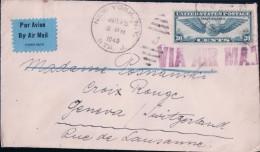 USA, Lettre Par Avion New York - Lausanne CH (15.7.40) - Covers & Documents