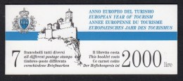 SAN MARINO - 1990 EUROPEAN TOURISM BOOKLET COMPLETE FINE MNH ** SG SB2 - Other