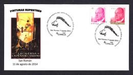 SPAIN ESPAGNE 2014 SPECIAL POTMARK. ART ROCK. CAVE OF LA PEÑA DE CANDAMO. ARCHEOLOGY. PREHISTORY HORSES - Archaeology