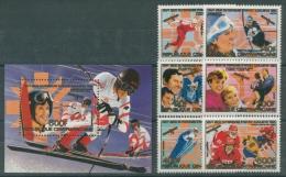 Zentralafrikanische Republik 1984 Olympiade 1062/67 Bl 297 Postfrisch (R22239) - Central African Republic