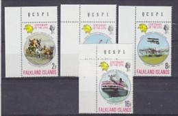 Falkland Islands 1974 UPU 4v  (corners) ** Mnh (FI1005G) - Falklandeilanden