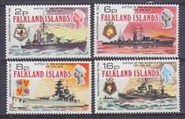 Falkland Islands 1974 Battle Of The River Plate 4v ** Mnh (FI1005N ) - Falkland Islands
