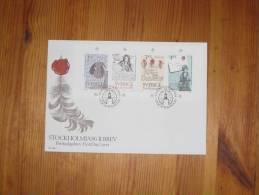 Schweden Sweden FDC Stockholm Stockholmia 86 6.6.1984 Block Sheet Siegel Seal Feder Brief Letter - FDC