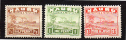 Nauru 1924 MNH Ship Stamps VF (n3) - Nauru